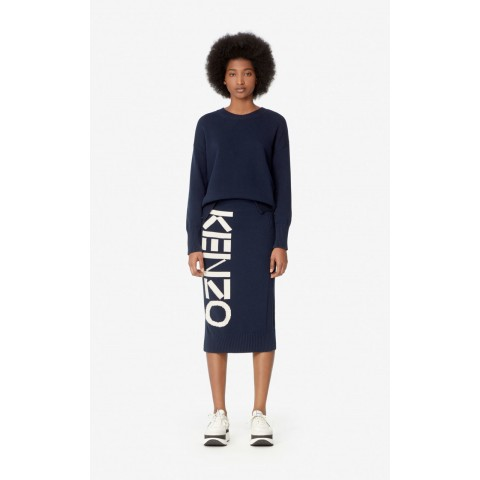 limited sale kenzo knit skirt - midnight blue best price last chance