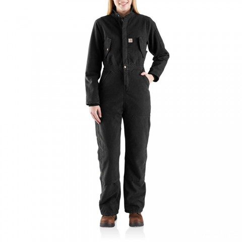 best price carhartt 103382 - women's wildwood coverall quilt lined black last chance limited sale