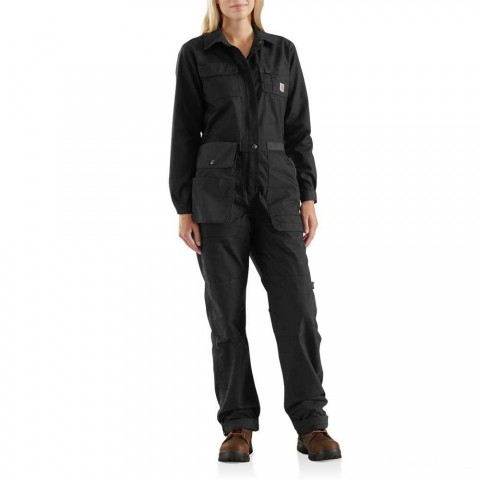 best price carhartt 103046 - women's smithville coverall black last chance limited sale