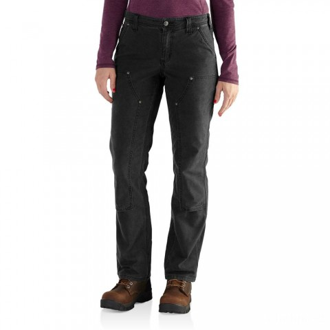 last chance carhartt 102323 - women's original fit crawford double front pant black best price limited sale
