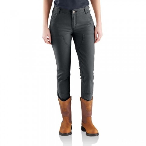 best price carhartt 103223 - women's slim fit crawford double front pant shadow limited sale last chance