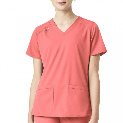 last chance carhartt c13106 - women's comfort v-neck utility top peach pink limited sale best price