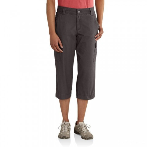 last chance carhartt 102075 - women's relaxed fit el paso cropped pant dark shale limited sale best price