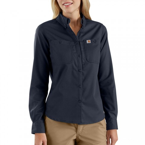 last chance carhartt 103106 - women's rugged professional™ series long-sleeve shirt navy limited sale best price