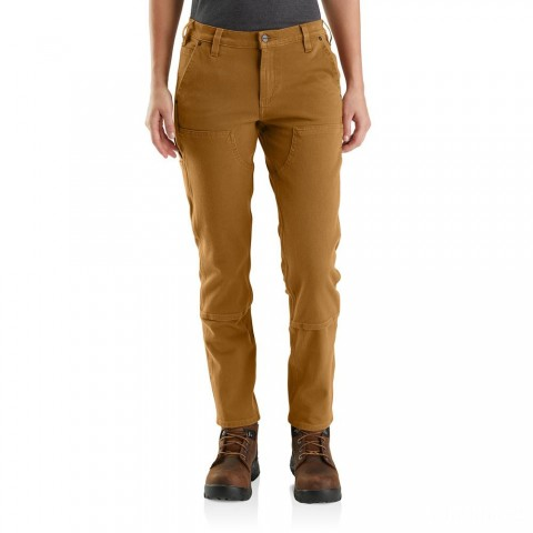 limited sale carhartt 104296 - women's straight fit stretch twill pant brown best price last chance