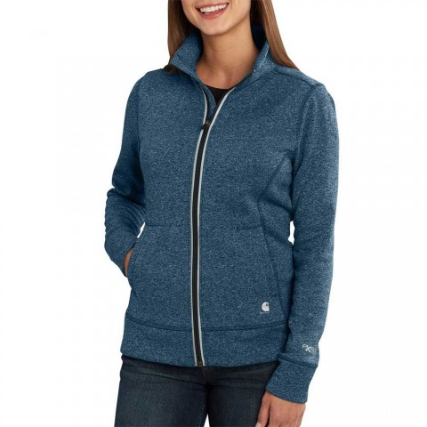 limited sale carhartt 102786 - women's force extremes™ zip front sweatshirt french blue best price last chance