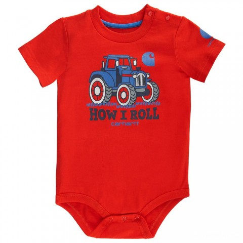 last chance carhartt ca8682 - how i roll bodyshirt boys fiery red best price limited sale