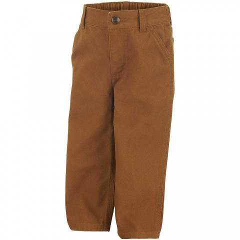 last chance carhartt ck8303 - washed dungaree pant boys brown limited sale best price