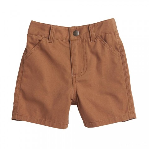 best price carhartt ch8287 - canvas rigby short boys brown limited sale last chance
