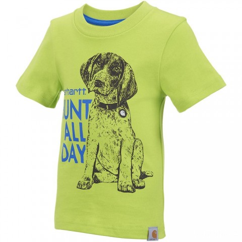 best price carhartt ca8699 - hunt all day tee boys sour apple last chance limited sale