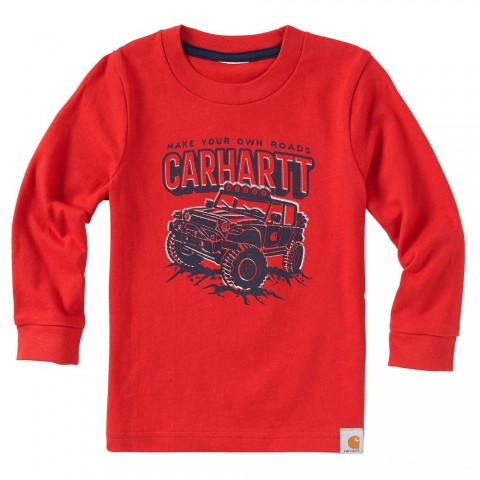 best price carhartt ca8861 - your own road tee boys autumn red limited sale last chance