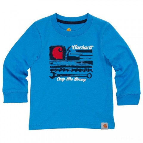 best price carhartt ca8748 - strong tee boys blue limited sale last chance