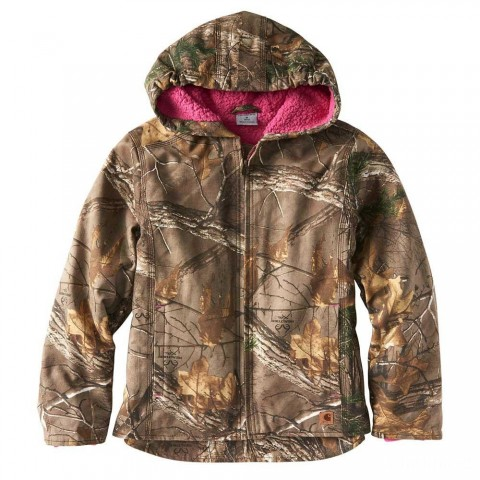 best price carhartt cp9529 - camo sherpa lined jacket girls realtree xtra last chance limited sale