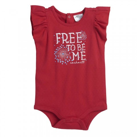 last chance carhartt ca9689 - free to be me bodyshirt girls tango red best price limited sale