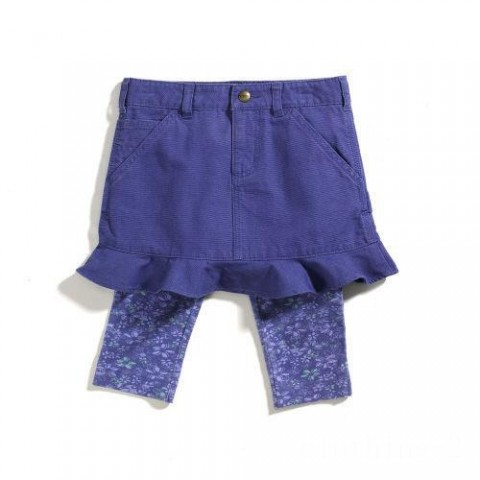 best price carhartt cg9523 - washed duck skirt and tights set girls medium purple last chance limited sale