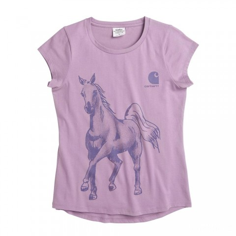limited sale carhartt ca9693 - watercolor horse tee girls lavender mist last chance best price