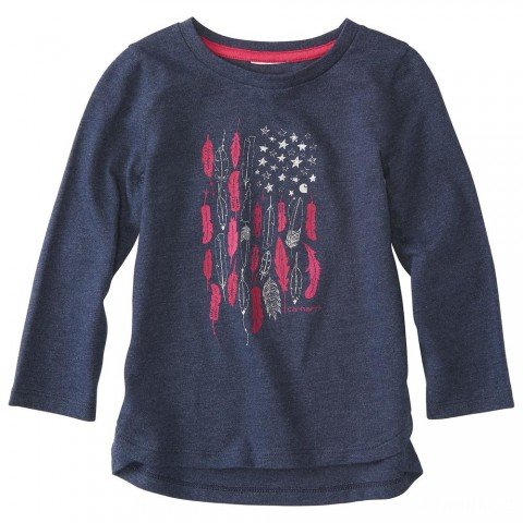 last chance carhartt ca9623 - stars and feather tee girls navy heather best price limited sale