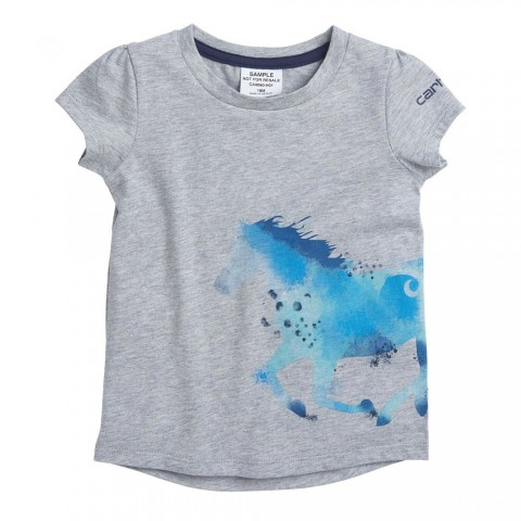 limited sale carhartt ca9690 - horse wrap tee girls heather gray best price last chance