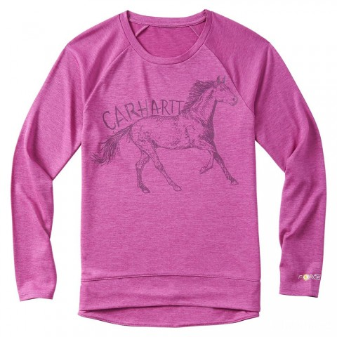 last chance carhartt ca9610 - force horse tee girls willowherb best price limited sale