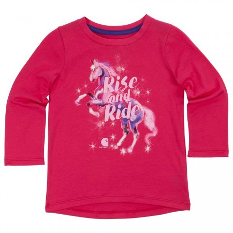 last chance carhartt ca9541 - rise and ride tee girls pink peacock limited sale best price