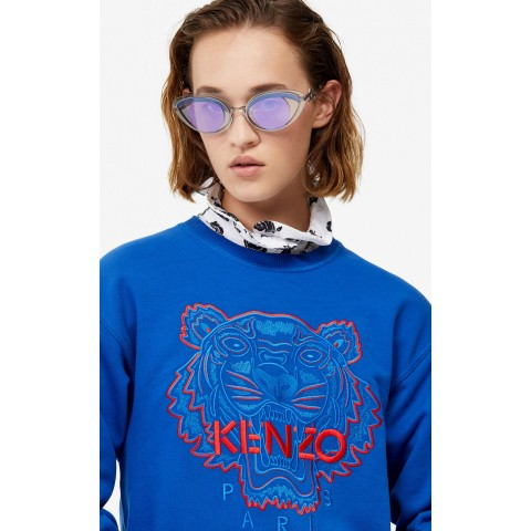 last chance two-tone tiger sweatshirt - french blue limited sale best price