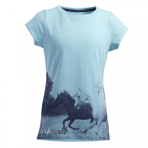 last chance carhartt ca9382 - photoreal horses tee girls light blue best price limited sale