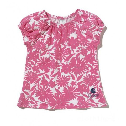 best price carhartt ca9073 - printed floral tunic girls pink last chance limited sale