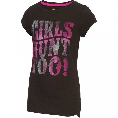limited sale carhartt ca9494 - girls hunt too tee mustang brown last chance best price