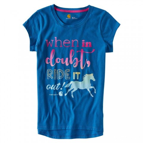 limited sale carhartt ca9583 - when in doubt tee girls blue last chance best price
