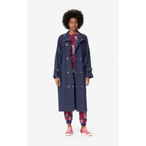 limited sale trench coat - midnight blue last chance best price