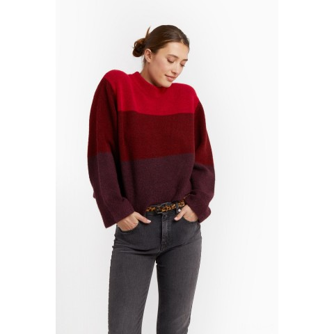 best price miller love sweater - red multi limited sale last chance