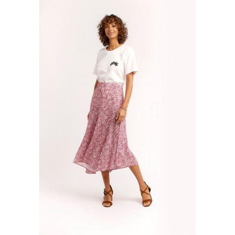 best price reiana skirt - pink multi limited sale last chance
