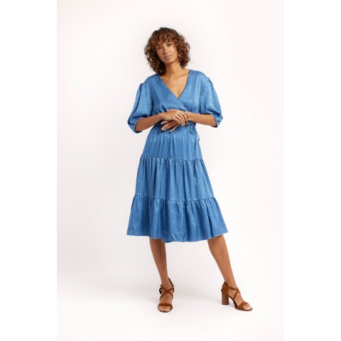 best price mary dress - cadet blue last chance limited sale