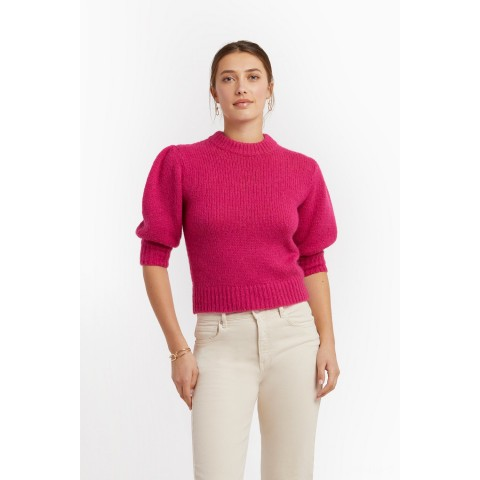 limited sale olive sweater - fuschia last chance best price
