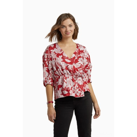 last chance mary top - red multi best price limited sale