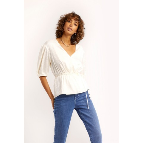 limited sale mary top - ecru best price last chance