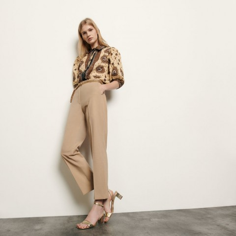 best price straight-cut tailored pants - beige last chance limited sale