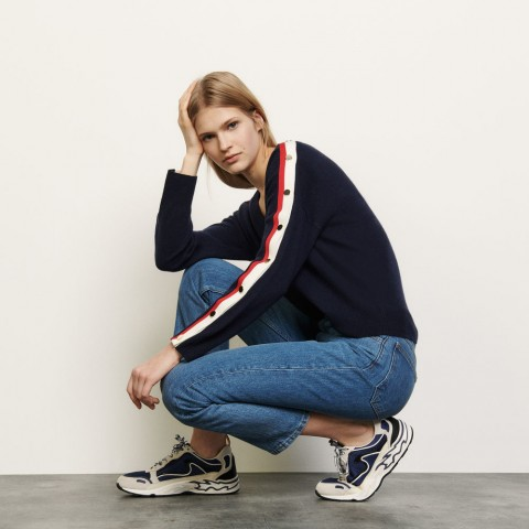 best price wool and cashmere sweater - navy blue last chance limited sale