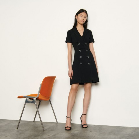 limited sale knitted tailored dress - black best price last chance