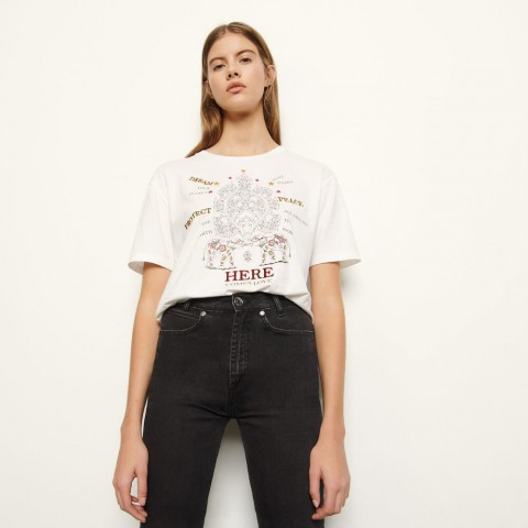 last chance t-shirt with motifs - white limited sale best price