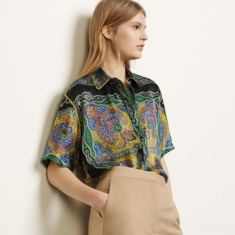 limited sale short-sleeved printed shirt - black best price last chance