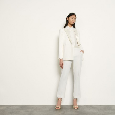 last chance tailored trousers - ivory best price limited sale