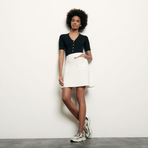 limited sale short knitted skirt - white last chance best price