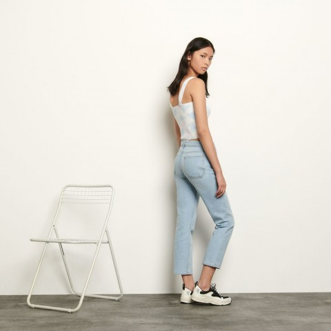 best price stretch jeans with 5 pockets - bleached denim limited sale last chance