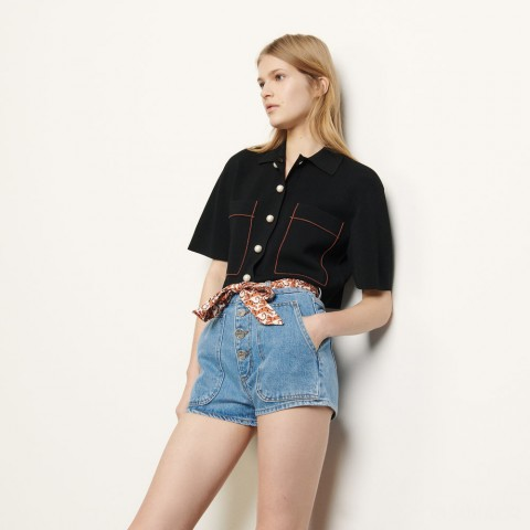 limited sale denim shorts with removeable belt - blue jean best price last chance