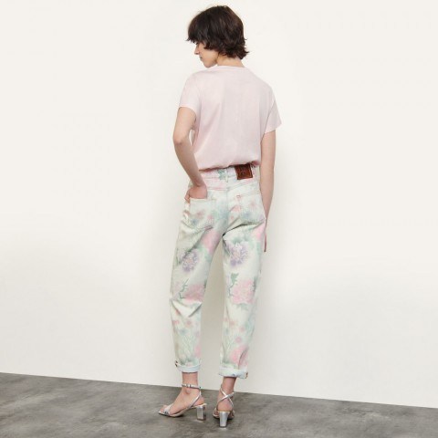 best price printed faded jeans - multi-color limited sale last chance