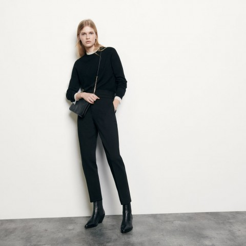 last chance high-waisted classic pants - black limited sale best price