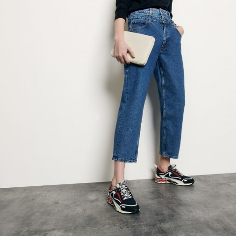 limited sale layered high-waisted jeans - blue last chance best price