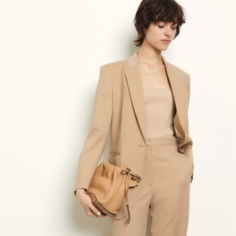 last chance tailored jacket with darts - beige limited sale best price