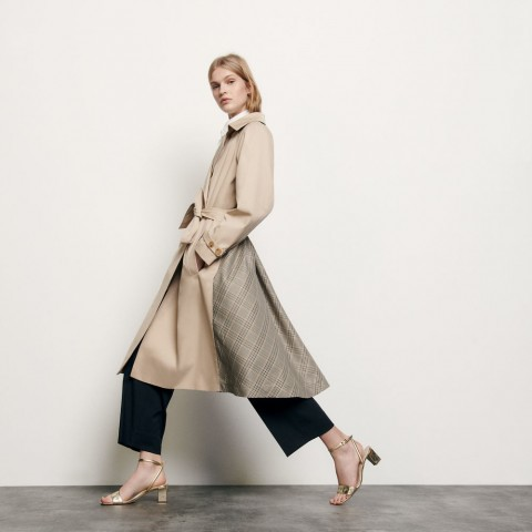 best price trenchcoat with insert at the back - beige limited sale last chance
